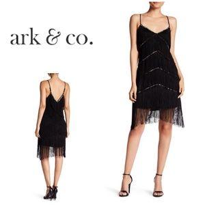 New Ark & Co. Embellished Trim Fringe Dress